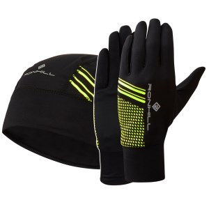 Ron Hill Running Beanie and Glove Set